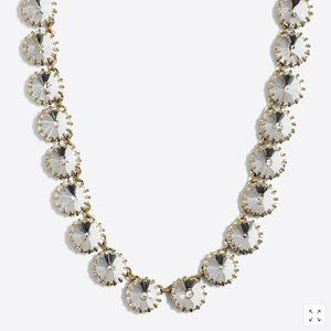NWT J. Crew Crystal Station Necklace